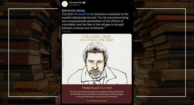 2021 nobel edebiyat ödülü kazananı duyuru paylaşımı