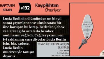 Temizlikçi Kadınlar İçin El Kitabı - Lucia Berlin   Haftanın Kitabı #192